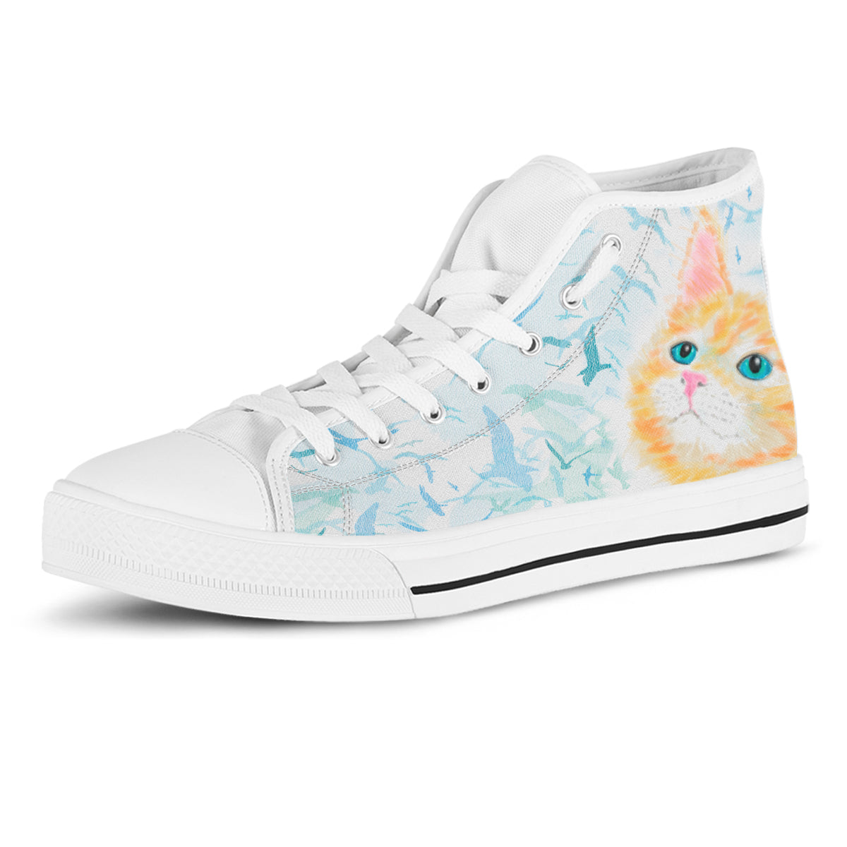 Watercolor Cat II Canvas Shoes (Women's) - Hello Moa