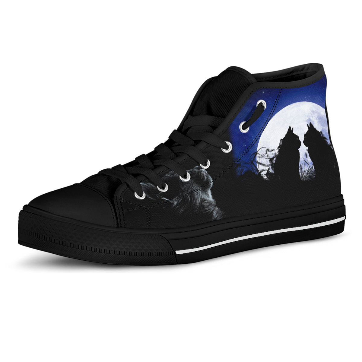 Moon Cats Canvas Shoes