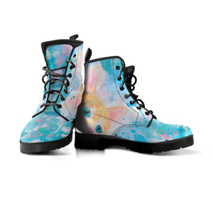 Watercolor Cat Boots (Women's) - Hello Moa