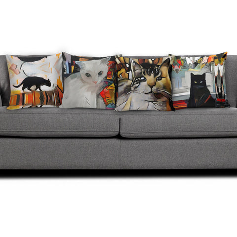 Art II Cat Pillow Covers