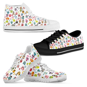 Colorful Cat Shoes - Hello Moa
