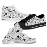 B&W Cartoon Cat Shoes (Women's) - Hello Moa