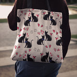 Cat Love Cloth Tote Bag