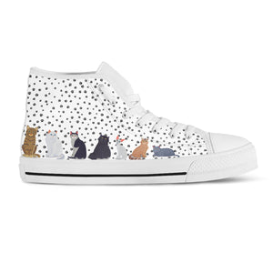 Sitting Cats Canvas Shoes