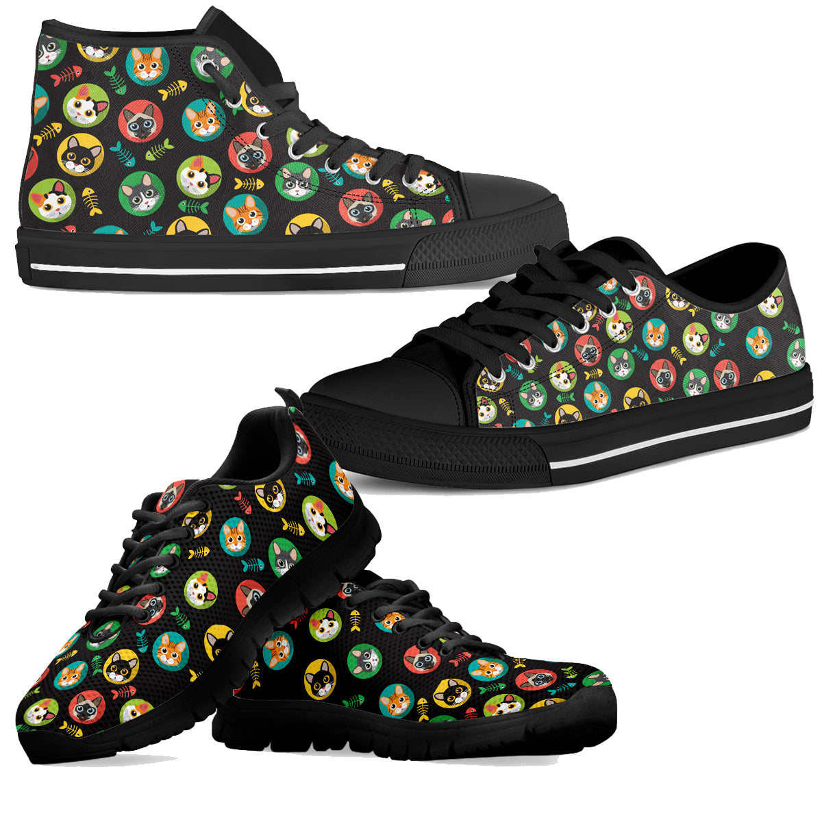 Cat & Fish Shoes (Women's) - Hello Moa