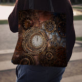 Clock & Cogs Cloth Tote Bag