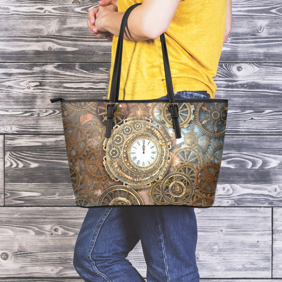 Clock & Cogs Large Tote - Hello Moa