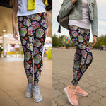 Colorful Sugar Skull Leggings - Hello Moa