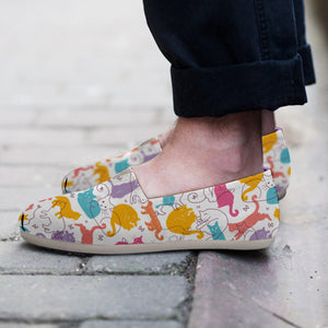 Colorful Cat Casual Shoes - Hello Moa