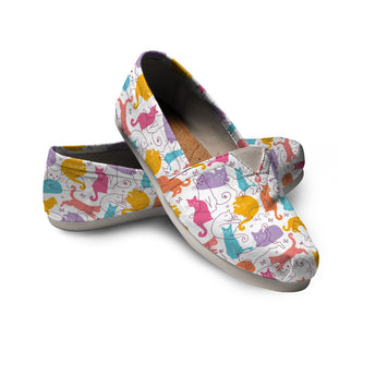 Colorful Cat Casual Shoes