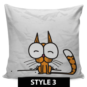 Comic Cat Pillow Covers - Hello Moa