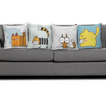 Comic Cat Pillow Covers