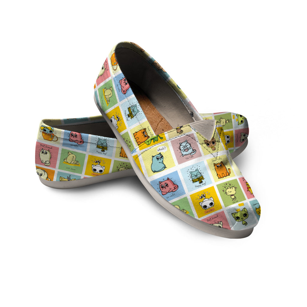 Cute Cat Casual Shoes - Hello Moa
