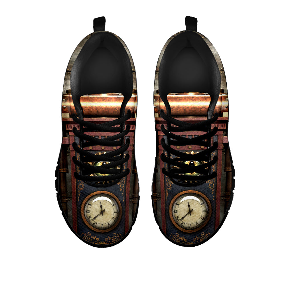 Brass Steampunk Clock Sneakers - Hello Moa