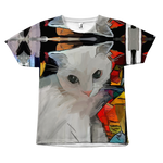 White Cat Tee - Hello Moa
