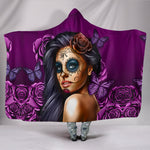 Purple Calavera Hooded Blanket