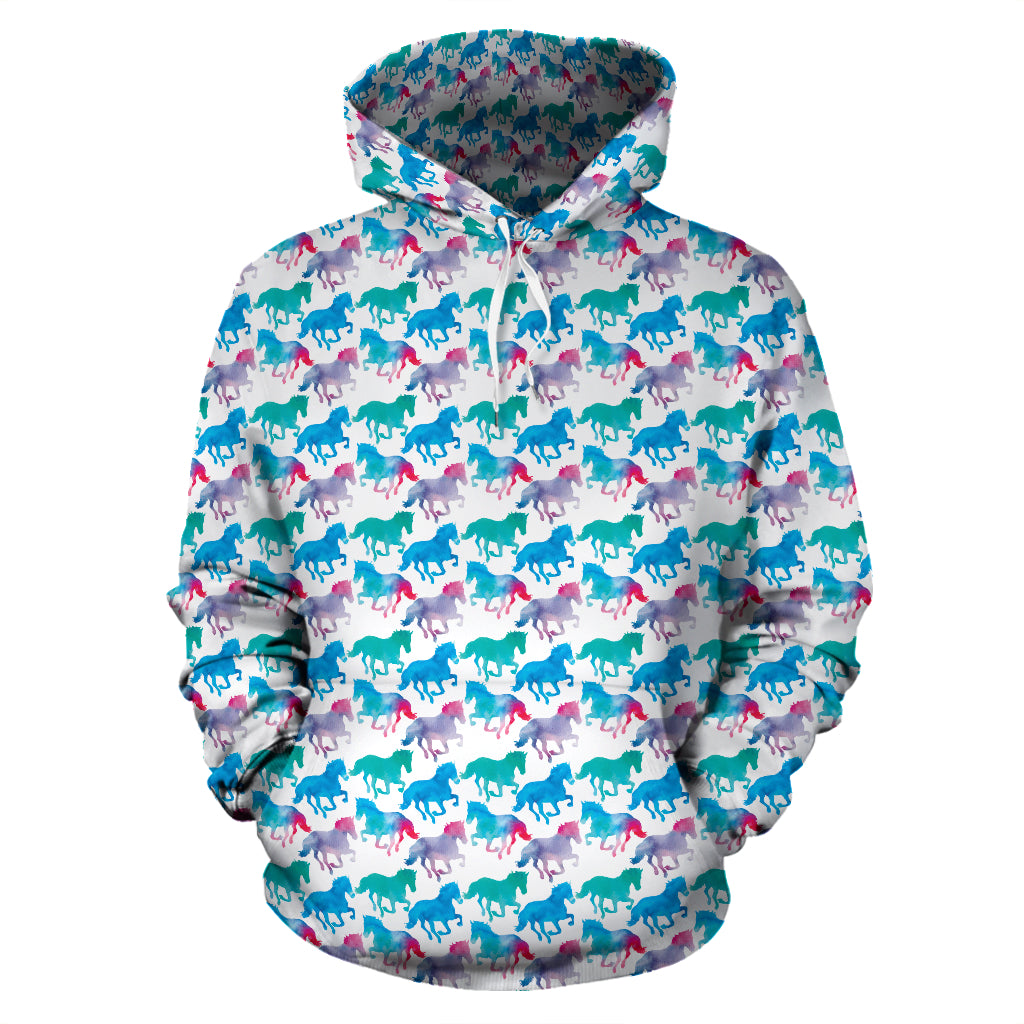 Watercolor Horse Hoodies - Hello Moa
