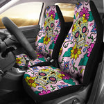 Sugar Skull Cross Car Seat Covers