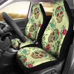 Green Sugar Skull Car Seat Covers - Hello Moa