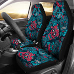 Red & Blue Sugar Skull Car Seat Covers - Hello Moa