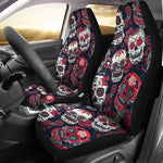 Red & White Sugar Skull Car Seat Covers