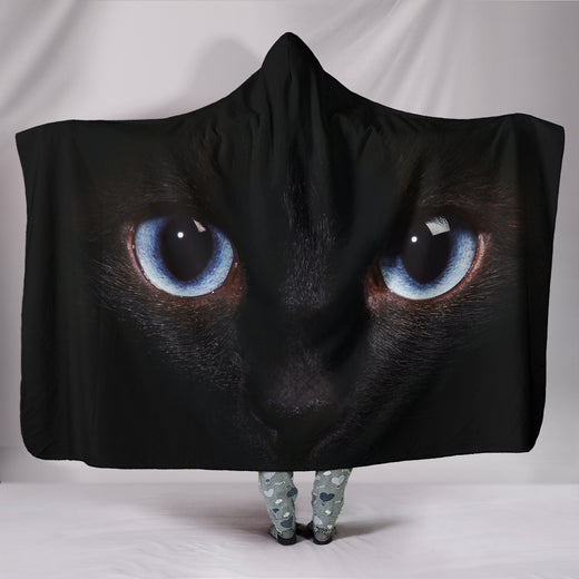 Cat Eyes Hooded Blanket