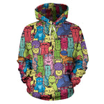 Cartoon Cat Hoodies - Hello Moa