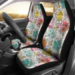 Pastel Sugar Skull Car Seat Covers