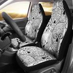 Black & White Sugar Skull Seat Covers