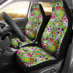 Green Sugar Skull II Car Seat Covers - Hello Moa