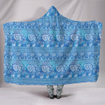Blue Elephants Hooded Blanket - Hello Moa