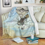 Steampunk Airplane Throw Blanket - Hello Moa