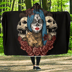 Blue Hair Skull Hooded Blanket - Hello Moa