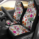 Pink Sugar Skull Car Seat Covers