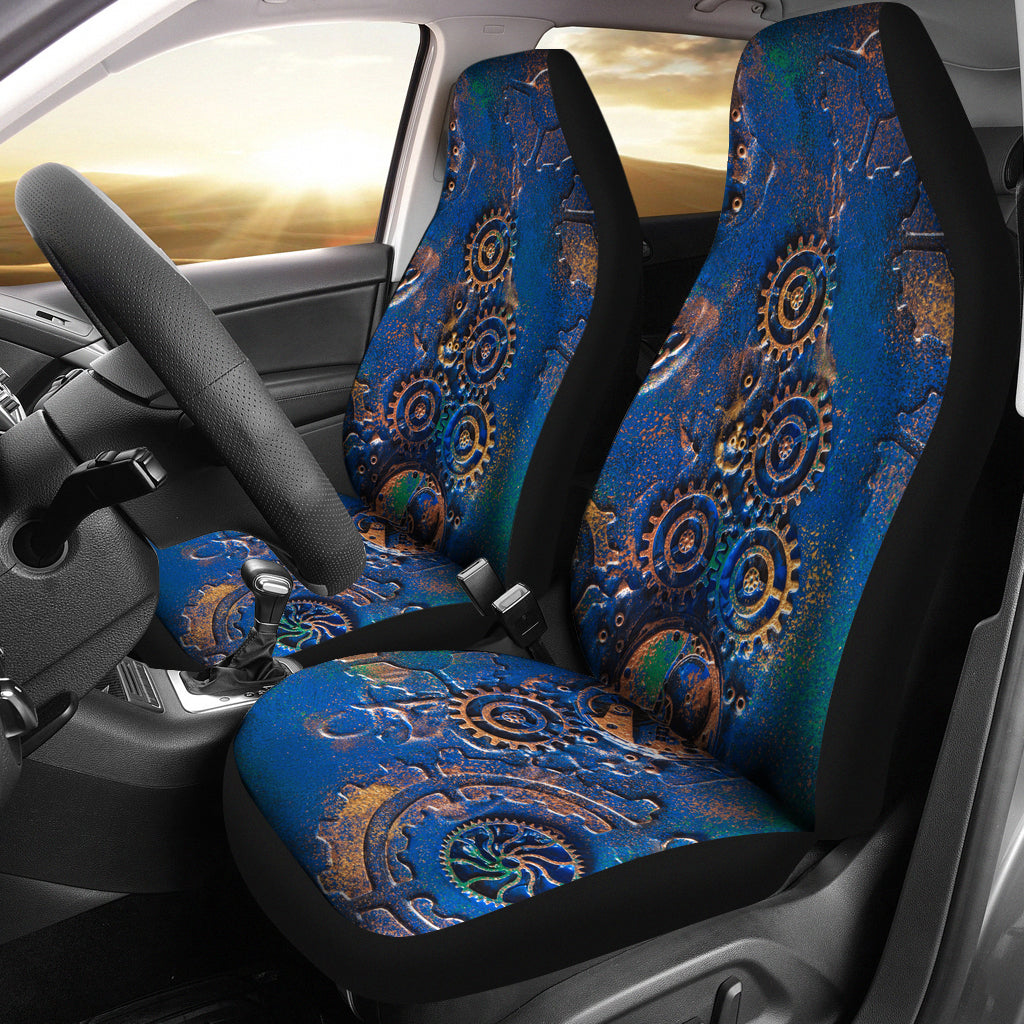 Blue Rust Car Seat Covers