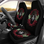 Sugar Skull Wreath Seat Covers