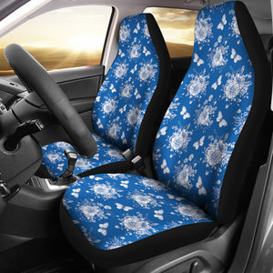 Victorian Blue Car Seat Covers