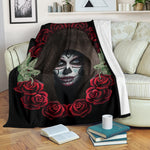Hood Sugar Skull Throw Blanket - Hello Moa