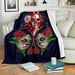 Whisper Sugar Skull Throw Blanket