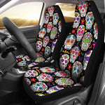 Colorful Sugar Skull III Car Seat Covers