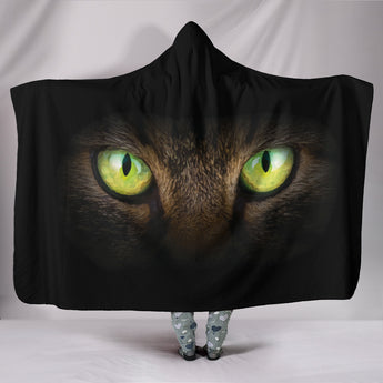 Cat Eyes II Hooded Blanket