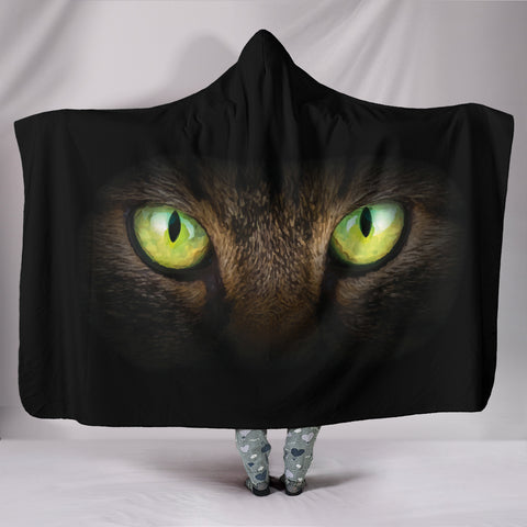 Image of Cat Eyes II Hooded Blanket