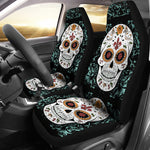 Vintage Sugar Skull Car Seat Covers