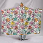 Pastel Sugar Skull III Hooded Blanket - Hello Moa