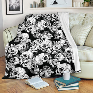 Skulls Throw Blanket - Hello Moa