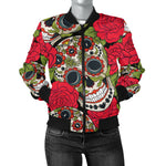 Rose Sugar Skull Women's Bomber Jacket