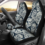 Black & White Sugar Skull II Car Seat Covers