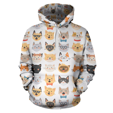 Image of Cat Faces Hoodies