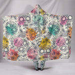 Pastel Sugar Skull Hooded Blanket - Hello Moa