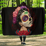 Sugar Skull Girl Hooded Blanket - Hello Moa